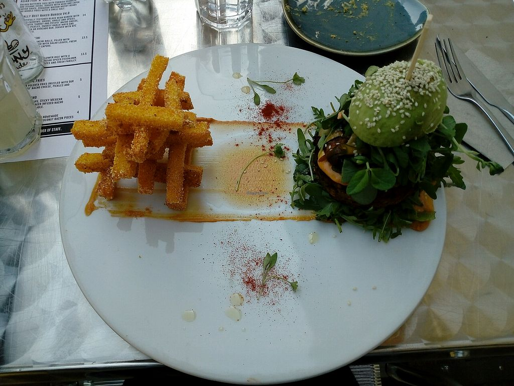"""Photo of Offbeet Food  by <a href=""""/members/profile/BethAni"""">BethAni</a> <br/>Black bean burger <br/> April 21, 2018  - <a href='/contact/abuse/image/55388/389103'>Report</a>"""