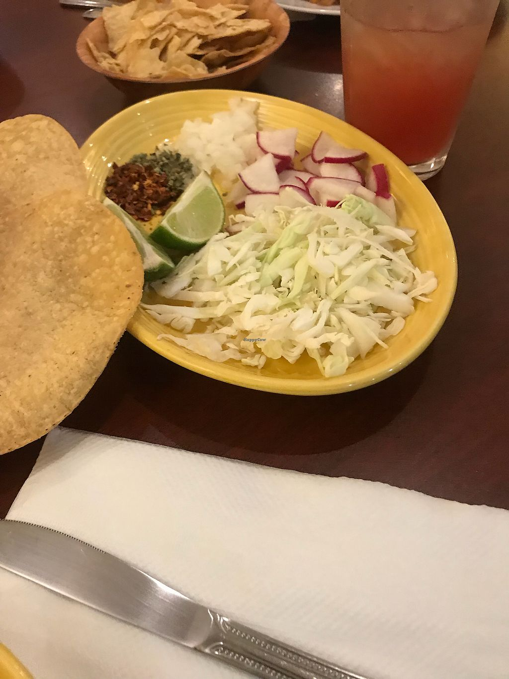 """Photo of un solo sol  by <a href=""""/members/profile/Vegan_Ness"""">Vegan_Ness</a> <br/>Add ins for Pozole  <br/> October 8, 2017  - <a href='/contact/abuse/image/55390/313271'>Report</a>"""