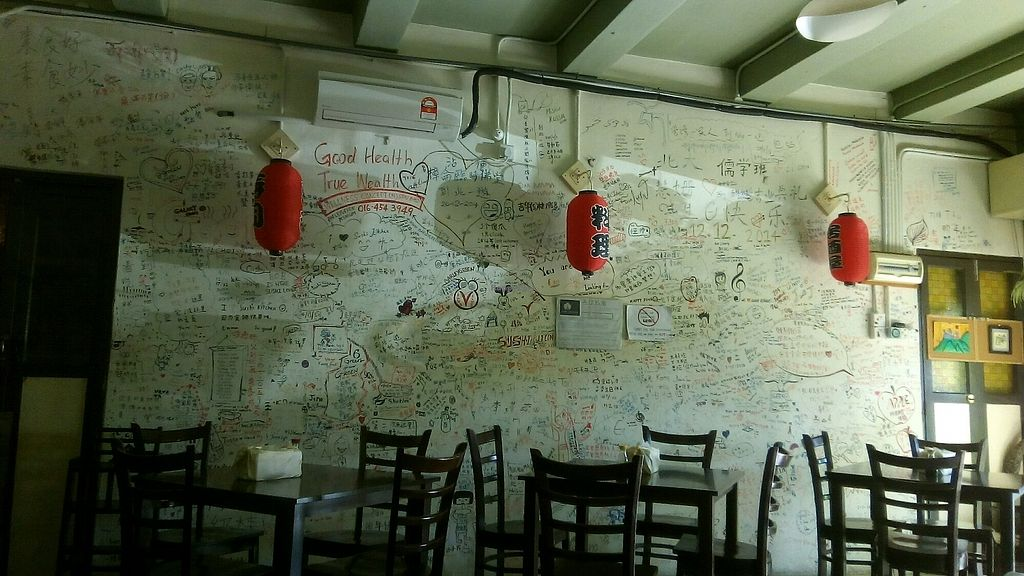 """Photo of Sushi Kitchen  by <a href=""""/members/profile/u_are_brilliant"""">u_are_brilliant</a> <br/>Messages on the wall <br/> July 1, 2017  - <a href='/contact/abuse/image/55403/275539'>Report</a>"""