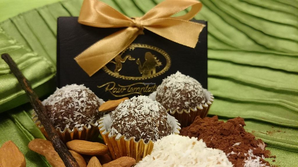 "Photo of Raw Temptation  by <a href=""/members/profile/CandiceChetty"">CandiceChetty</a> <br/>Sinful Coconut Truffles: 'Almonds carressed with chewy dates and laced with coconut'