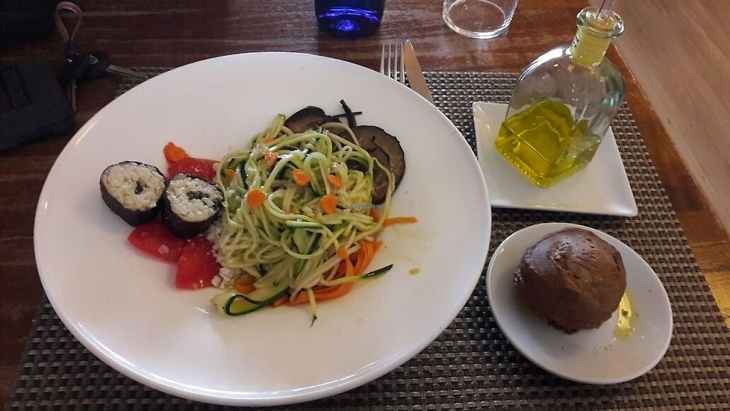 """Photo of Restaurant Paisatges  by <a href=""""/members/profile/Fzrboy"""">Fzrboy</a> <br/>Vegan mains <br/> May 8, 2017  - <a href='/contact/abuse/image/55465/257112'>Report</a>"""