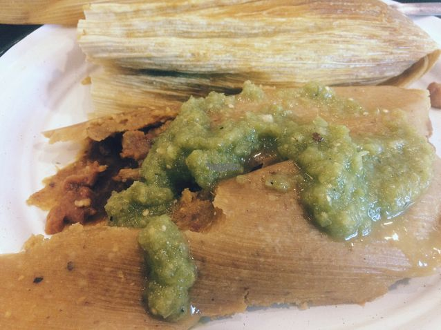"""Photo of Revolucion Verde  by <a href=""""/members/profile/EthanLuck"""">EthanLuck</a> <br/>Bean Tamales <br/> October 1, 2016  - <a href='/contact/abuse/image/55484/179089'>Report</a>"""