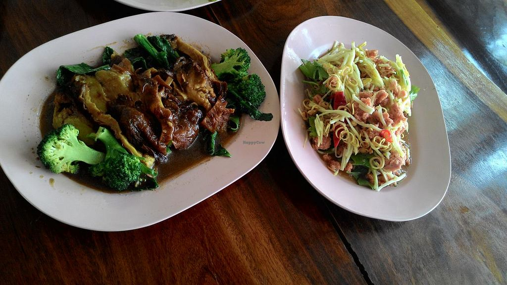 """Photo of Raan Budatip  by <a href=""""/members/profile/Mister%20Yeti"""">Mister Yeti</a> <br/>'Duck' on broccoli (left) and spicy 'tuna' salad (right) <br/> February 8, 2015  - <a href='/contact/abuse/image/55485/92553'>Report</a>"""