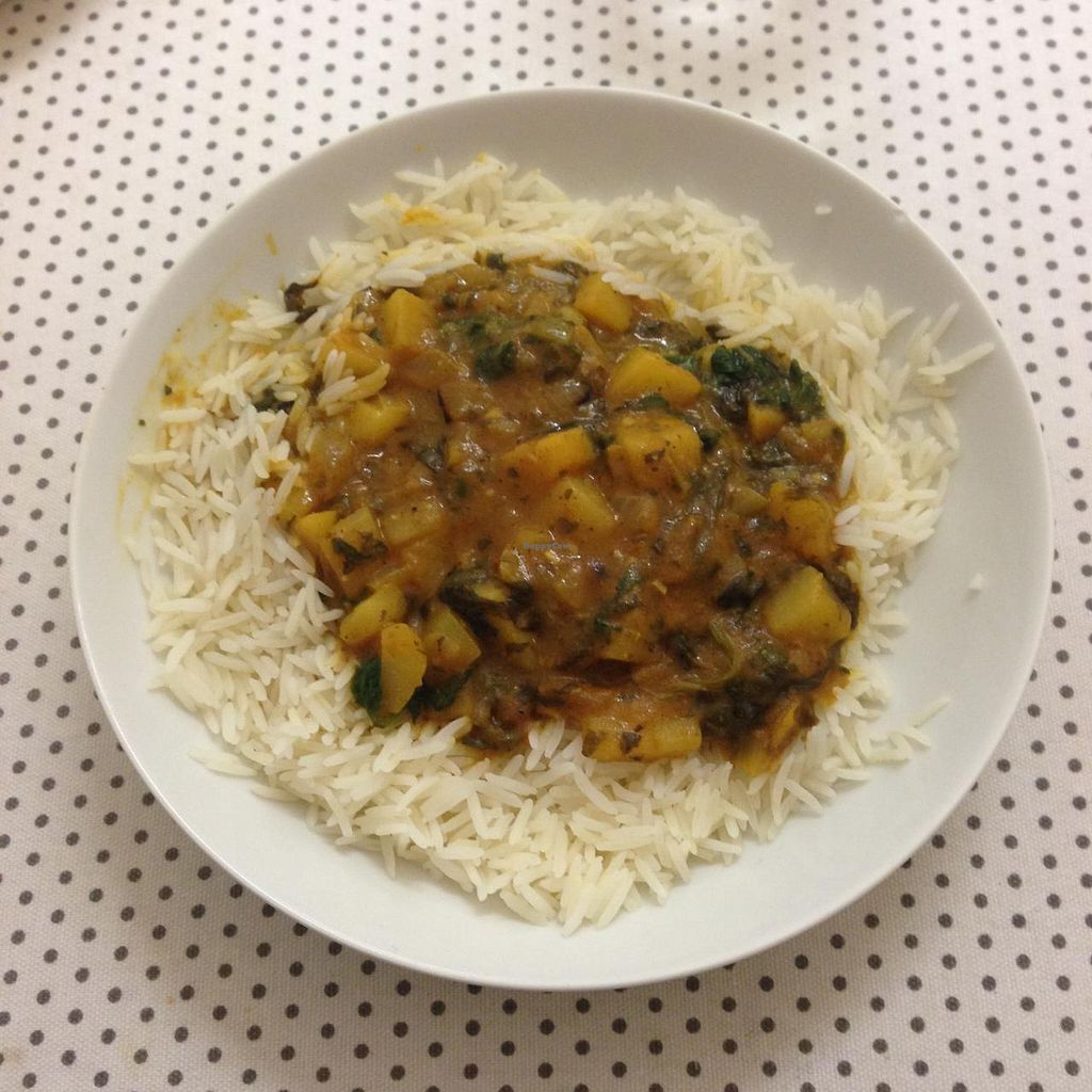 """Photo of Assembly Tea Rooms  by <a href=""""/members/profile/dmvegan"""">dmvegan</a> <br/>Curry With Rice <br/> March 11, 2015  - <a href='/contact/abuse/image/55494/95473'>Report</a>"""