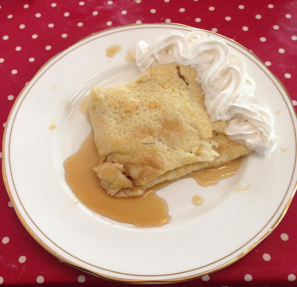 """Photo of Assembly Tea Rooms  by <a href=""""/members/profile/dmvegan"""">dmvegan</a> <br/>Pancake with Maple Syrup & Cream <br/> March 11, 2015  - <a href='/contact/abuse/image/55494/95474'>Report</a>"""