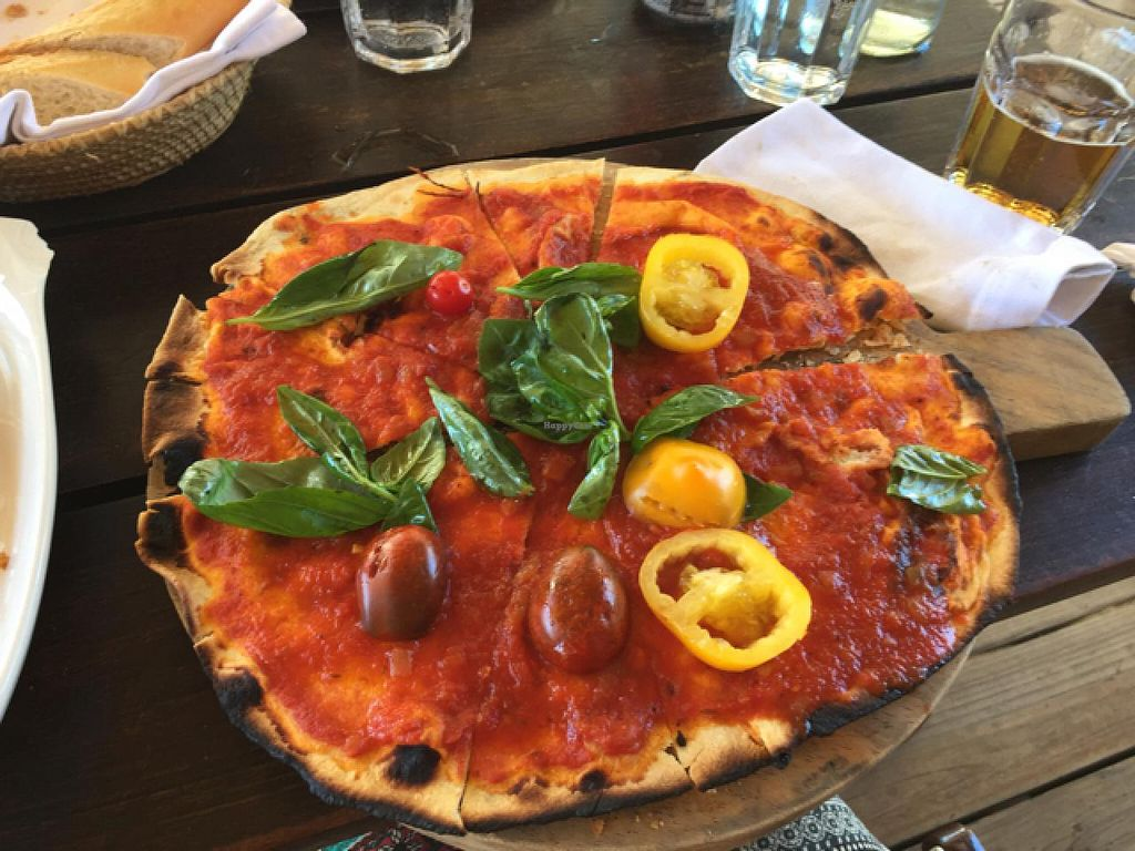 """Photo of La Huella  by <a href=""""/members/profile/cuckooworld"""">cuckooworld</a> <br/>pizza without cheese <br/> February 9, 2015  - <a href='/contact/abuse/image/55529/92657'>Report</a>"""