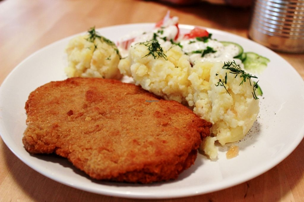 """Photo of Lokal Vegan Bistro  by <a href=""""/members/profile/SueClesh"""">SueClesh</a> <br/>polish soy schnitzel <br/> September 17, 2015  - <a href='/contact/abuse/image/55545/118085'>Report</a>"""