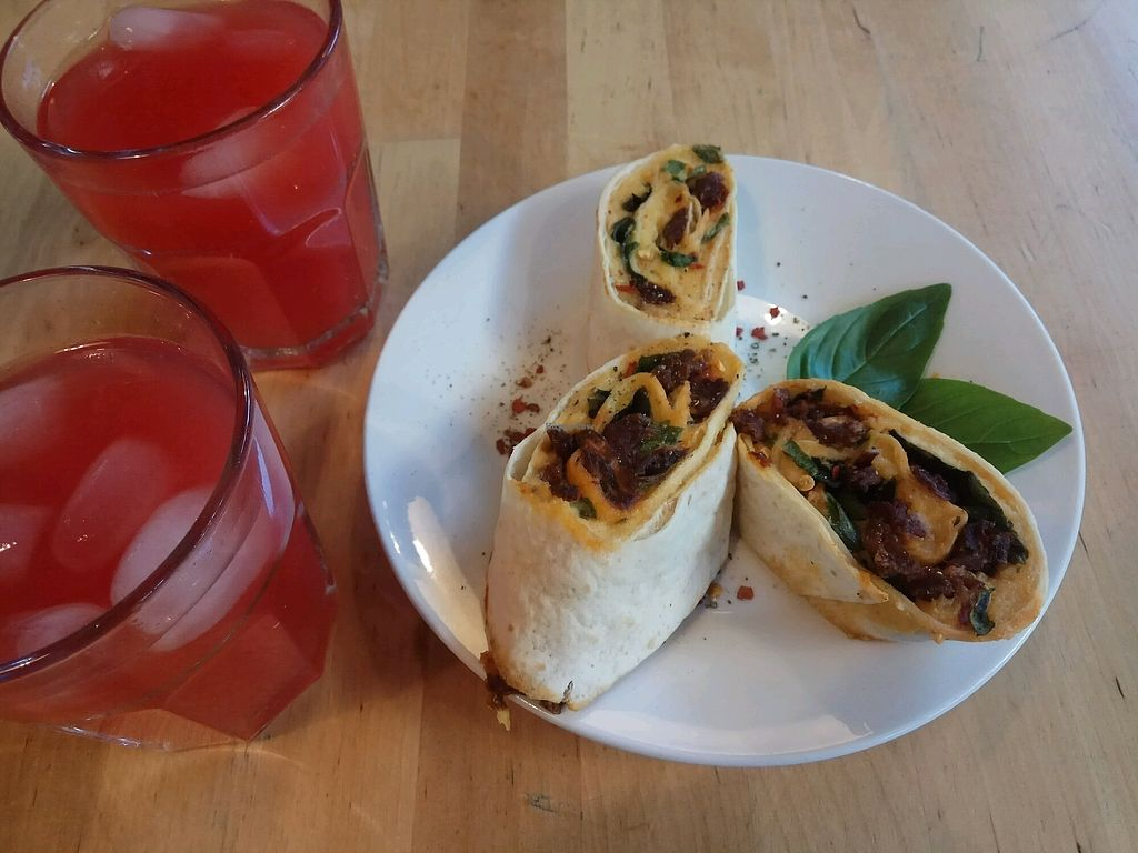 """Photo of Lokal Vegan Bistro  by <a href=""""/members/profile/NuritGal"""">NuritGal</a> <br/>tortiya and watermelon lemonade :) <br/> August 31, 2017  - <a href='/contact/abuse/image/55545/299396'>Report</a>"""