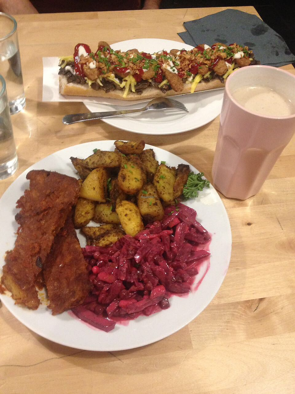 """Photo of Lokal Vegan Bistro  by <a href=""""/members/profile/Zmanta"""">Zmanta</a> <br/>Spare Ribs and Zapiekanka <br/> October 12, 2017  - <a href='/contact/abuse/image/55545/314589'>Report</a>"""
