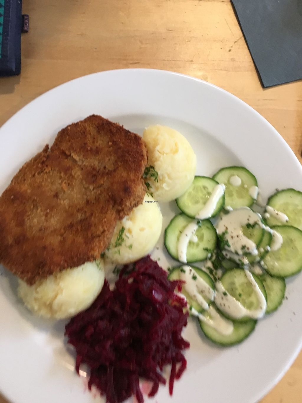 """Photo of Lokal Vegan Bistro  by <a href=""""/members/profile/Kwacha"""">Kwacha</a> <br/>soy cutlet with mashed potatoes and vegan salad <br/> January 17, 2018  - <a href='/contact/abuse/image/55545/347641'>Report</a>"""