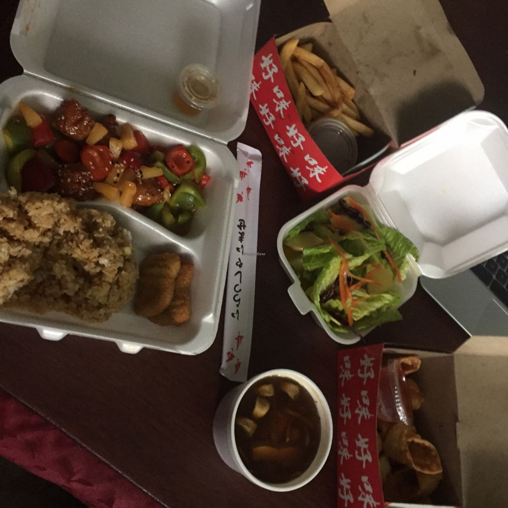 """Photo of The Garden Asian Vegetarian Cuisine  by <a href=""""/members/profile/SharaDeserranno"""">SharaDeserranno</a> <br/>great take out  <br/> June 26, 2016  - <a href='/contact/abuse/image/55553/156264'>Report</a>"""