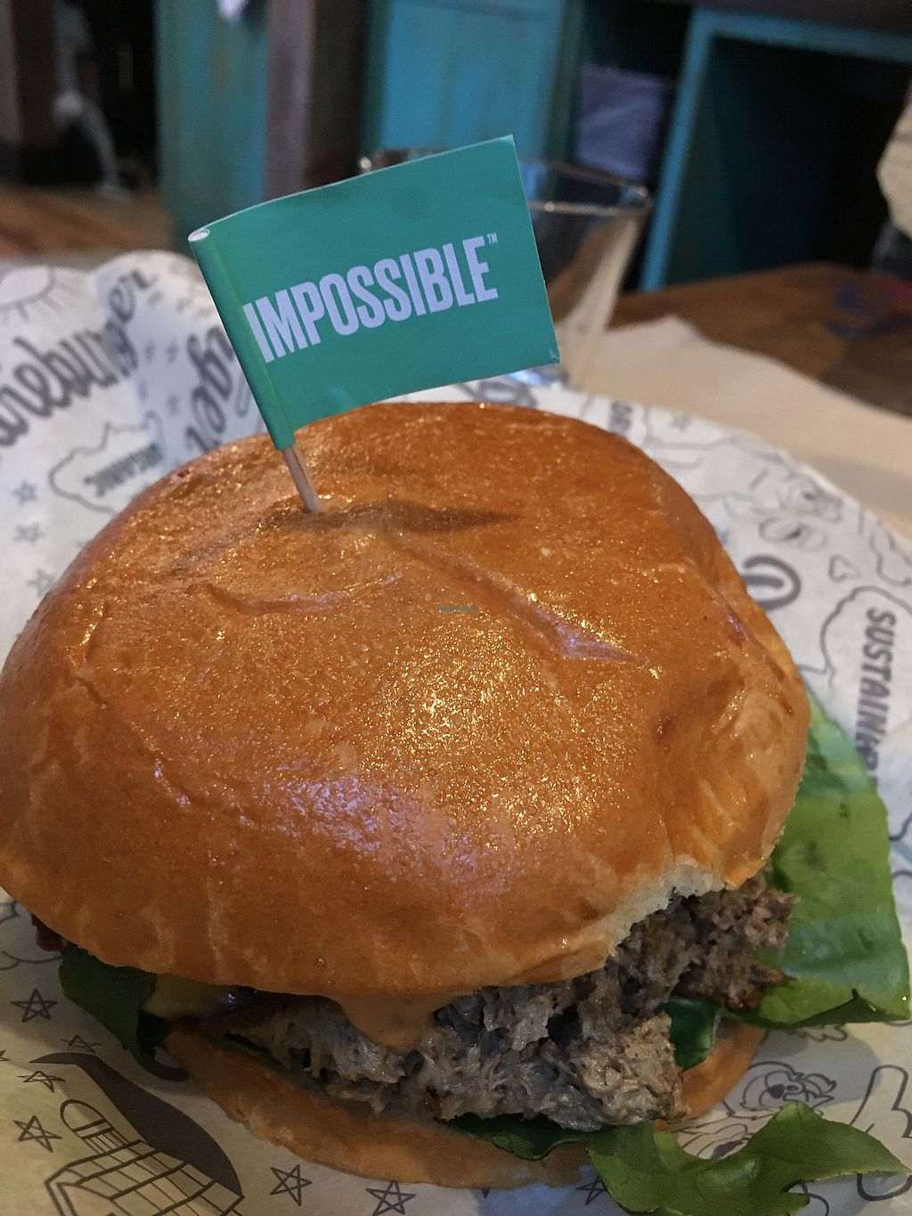 """Photo of Bareburger - Financial District  by <a href=""""/members/profile/NathanOriol"""">NathanOriol</a> <br/>Impossible Burger <br/> January 15, 2018  - <a href='/contact/abuse/image/55575/346737'>Report</a>"""