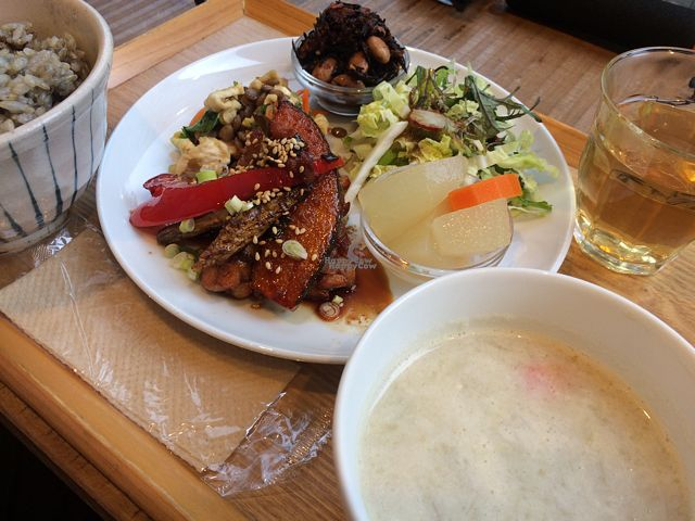 "Photo of Gaia Shokudo  by <a href=""/members/profile/MarikoDayo"">MarikoDayo</a> <br/>delicious tempeh set lunch <br/> October 22, 2016  - <a href='/contact/abuse/image/55585/183773'>Report</a>"