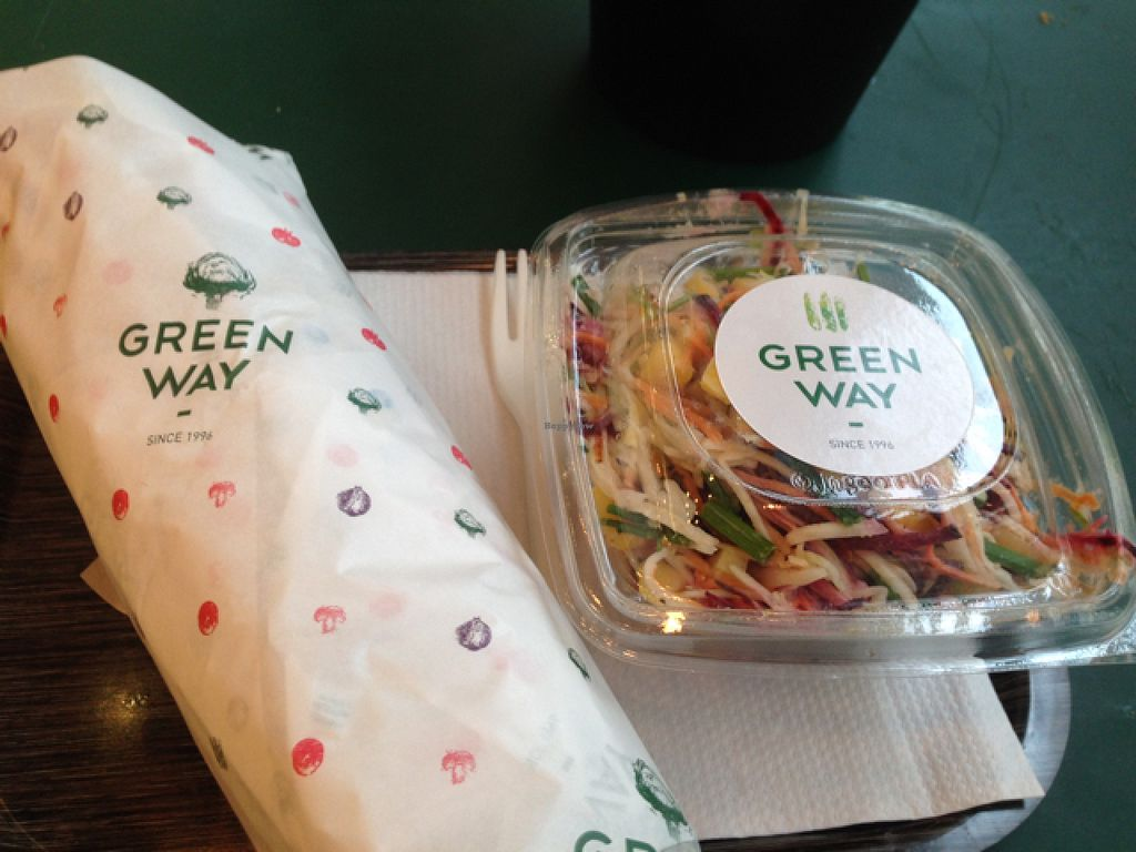 """Photo of Greenway - St Gilles  by <a href=""""/members/profile/Rachelly"""">Rachelly</a> <br/>Kebab & Slaw salad <br/> July 30, 2015  - <a href='/contact/abuse/image/55591/111592'>Report</a>"""