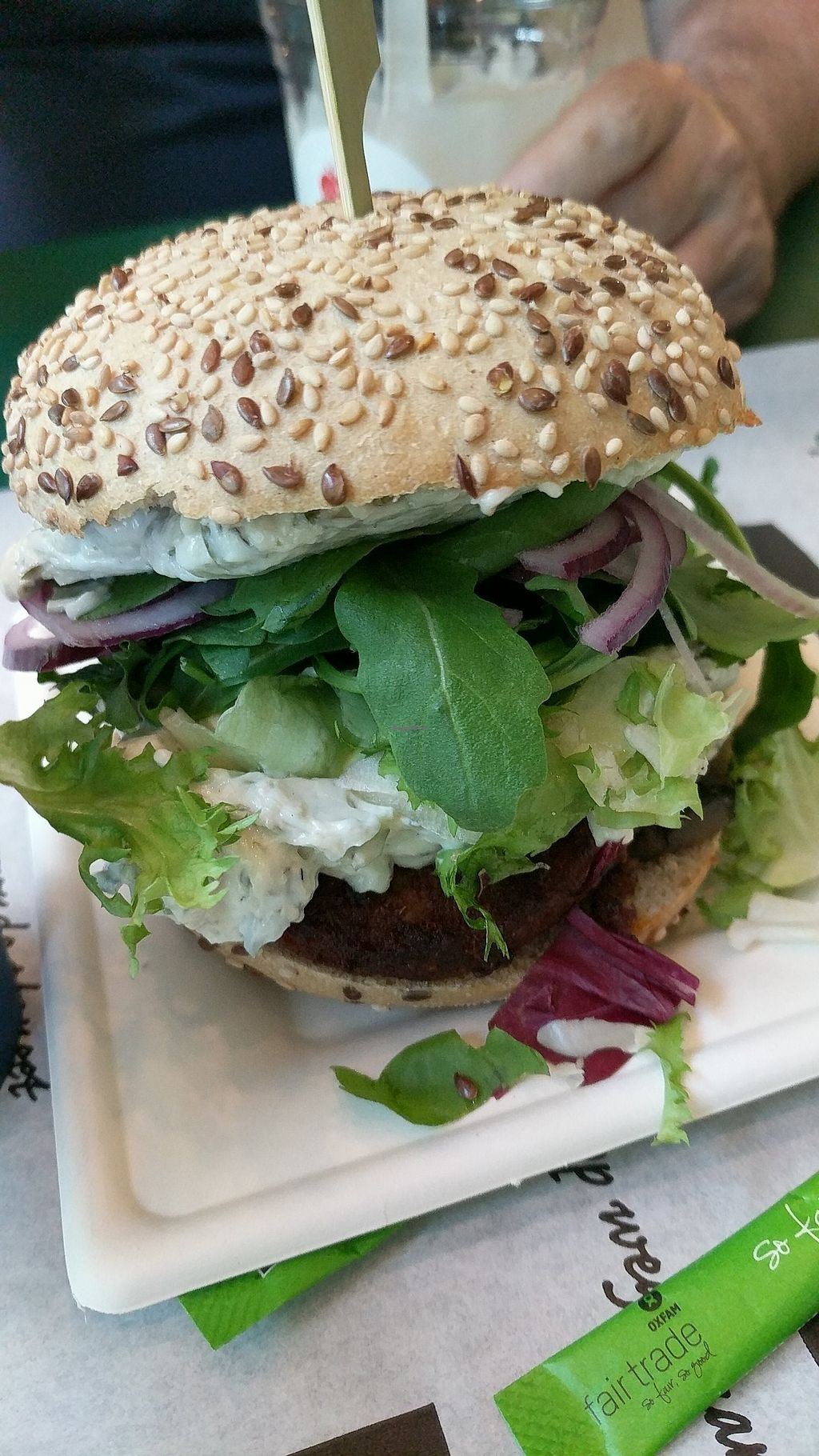 """Photo of Greenway - St Gilles  by <a href=""""/members/profile/callyisprobablyacat"""">callyisprobablyacat</a> <br/>Vegan sweet red pepper burger <br/> September 3, 2017  - <a href='/contact/abuse/image/55591/300458'>Report</a>"""