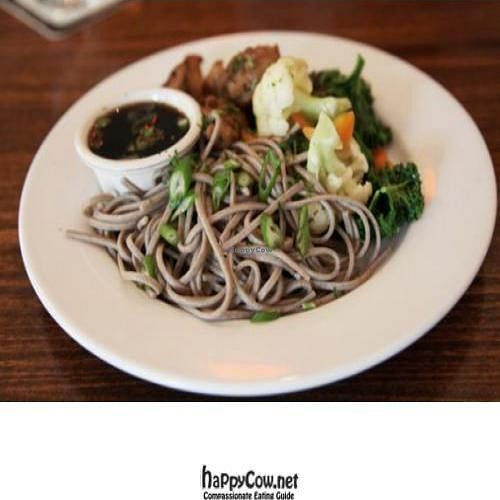 "Photo of CLOSED: Spiritland Bistro  by <a href=""/members/profile/quarrygirl"">quarrygirl</a> <br/>soba good bento: buckwheat soba, seitan, chipotle lime kaeshi sauce, seasonal vegetables <br/> November 30, 2011  - <a href='/contact/abuse/image/5562/12618'>Report</a>"