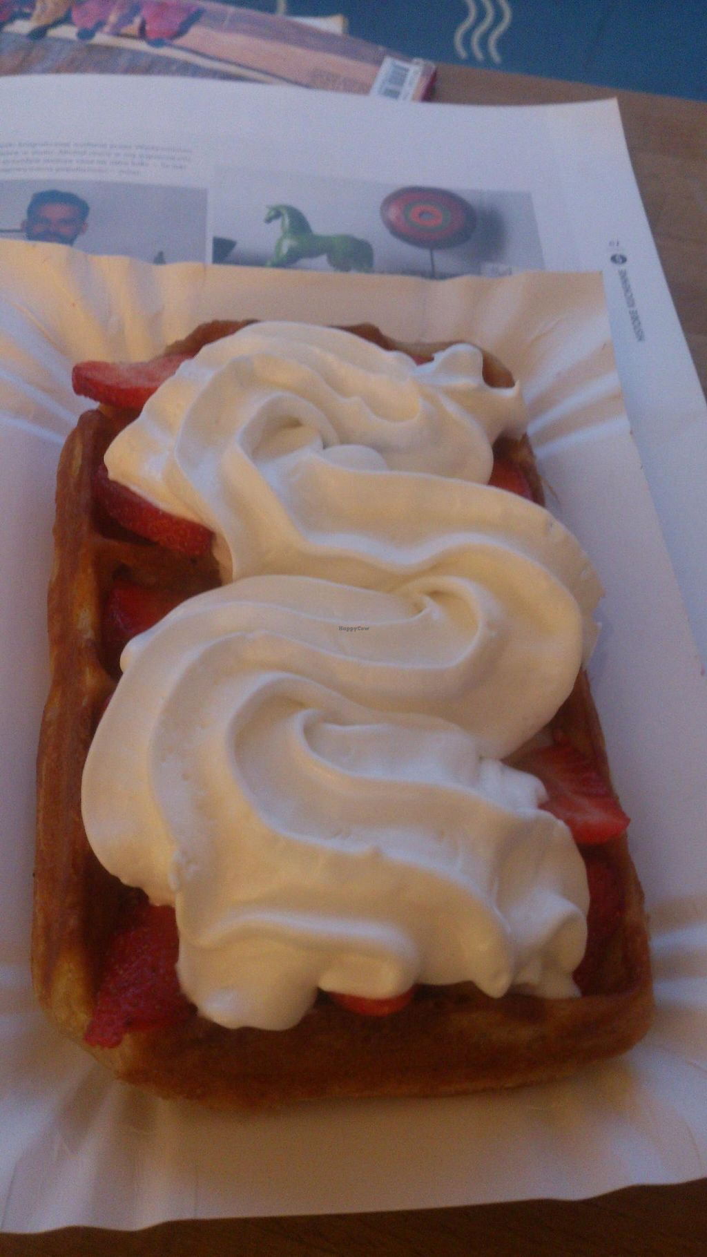 """Photo of CLOSED: Sklep z Goframi  by <a href=""""/members/profile/werkat"""">werkat</a> <br/>Vegan waffle with strawberries and coconut whipped cream <br/> May 4, 2015  - <a href='/contact/abuse/image/55641/101157'>Report</a>"""