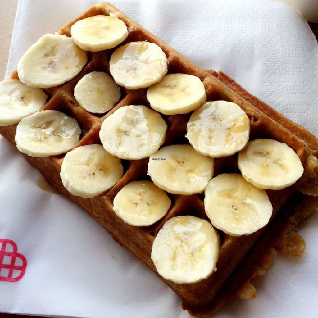 """Photo of CLOSED: Sklep z Goframi  by <a href=""""/members/profile/Dariadaria"""">Dariadaria</a> <br/>vegan waffle w banana and maple syrup <br/> July 11, 2016  - <a href='/contact/abuse/image/55641/159146'>Report</a>"""