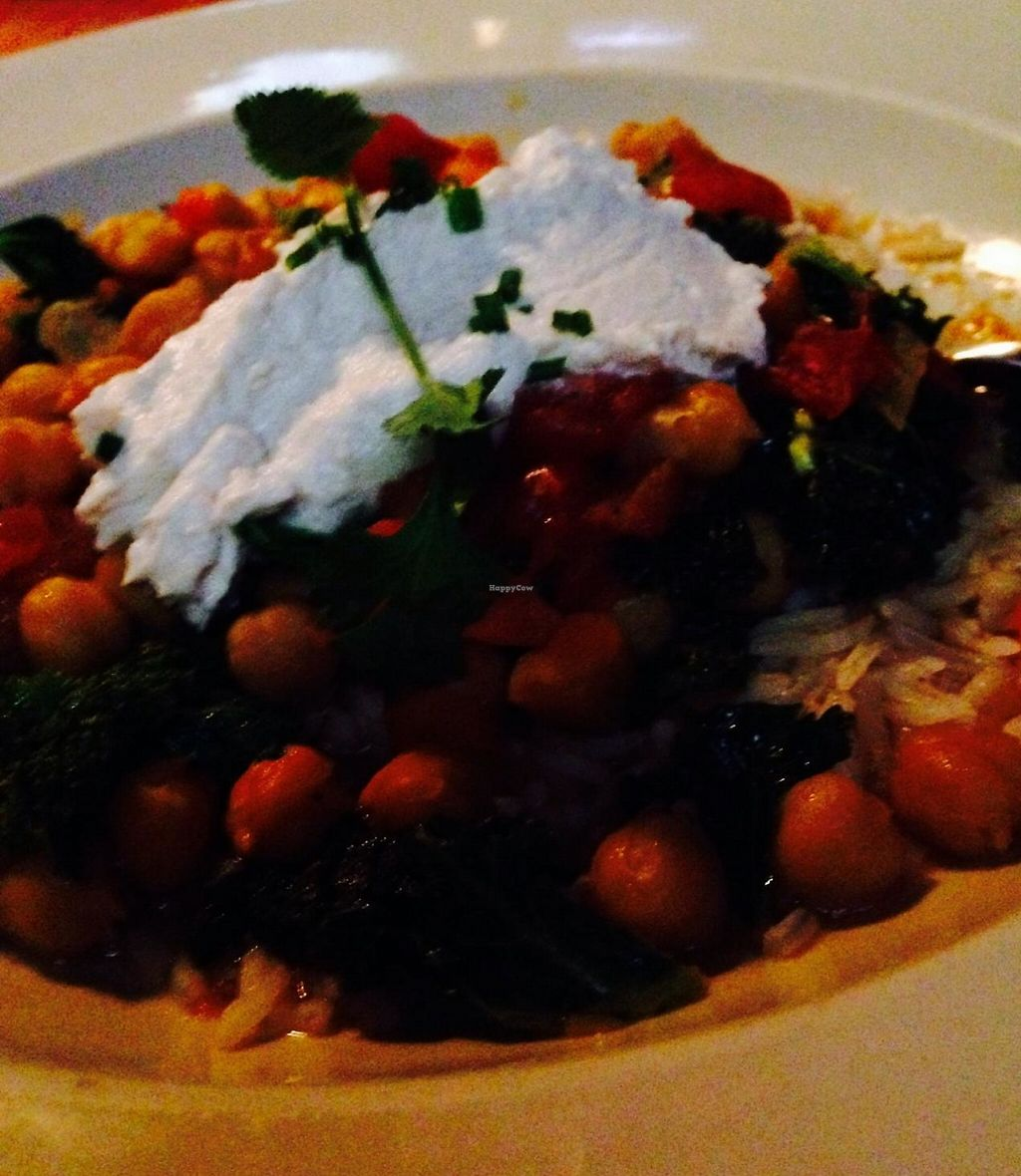 """Photo of Meridian Pint  by <a href=""""/members/profile/cookiem"""">cookiem</a> <br/>Chickpea and butternut squash vegan stew with basmati rice and vegan sour cream <br/> February 16, 2015  - <a href='/contact/abuse/image/55674/191811'>Report</a>"""