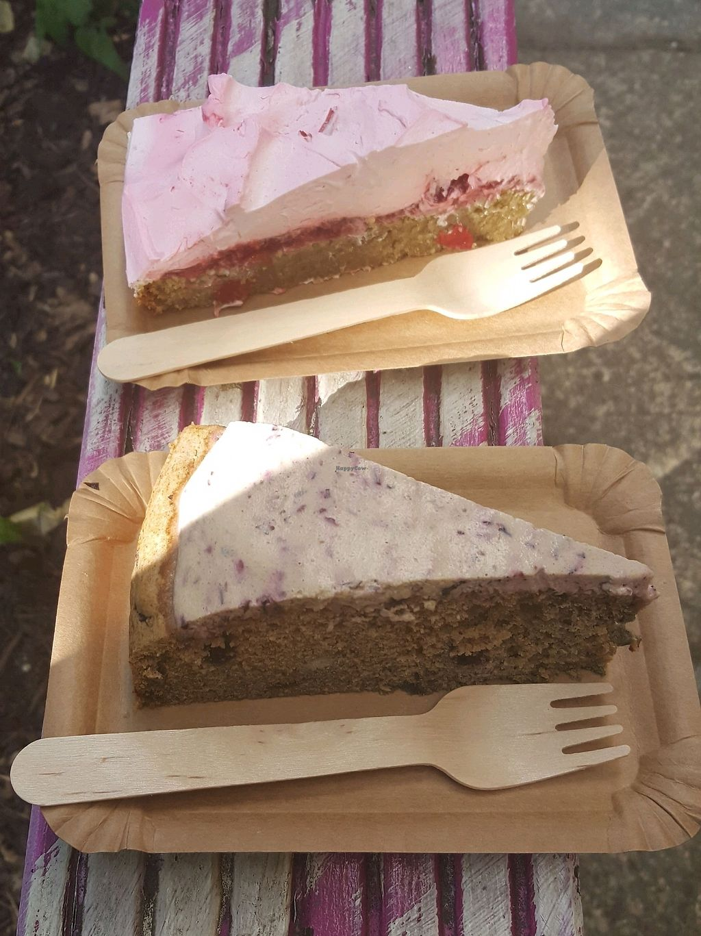 """Photo of Velicious  by <a href=""""/members/profile/RoseVonVegan"""">RoseVonVegan</a> <br/>takeaway in the summer - gorgeous cakes and weather <br/> February 18, 2018  - <a href='/contact/abuse/image/55697/360954'>Report</a>"""