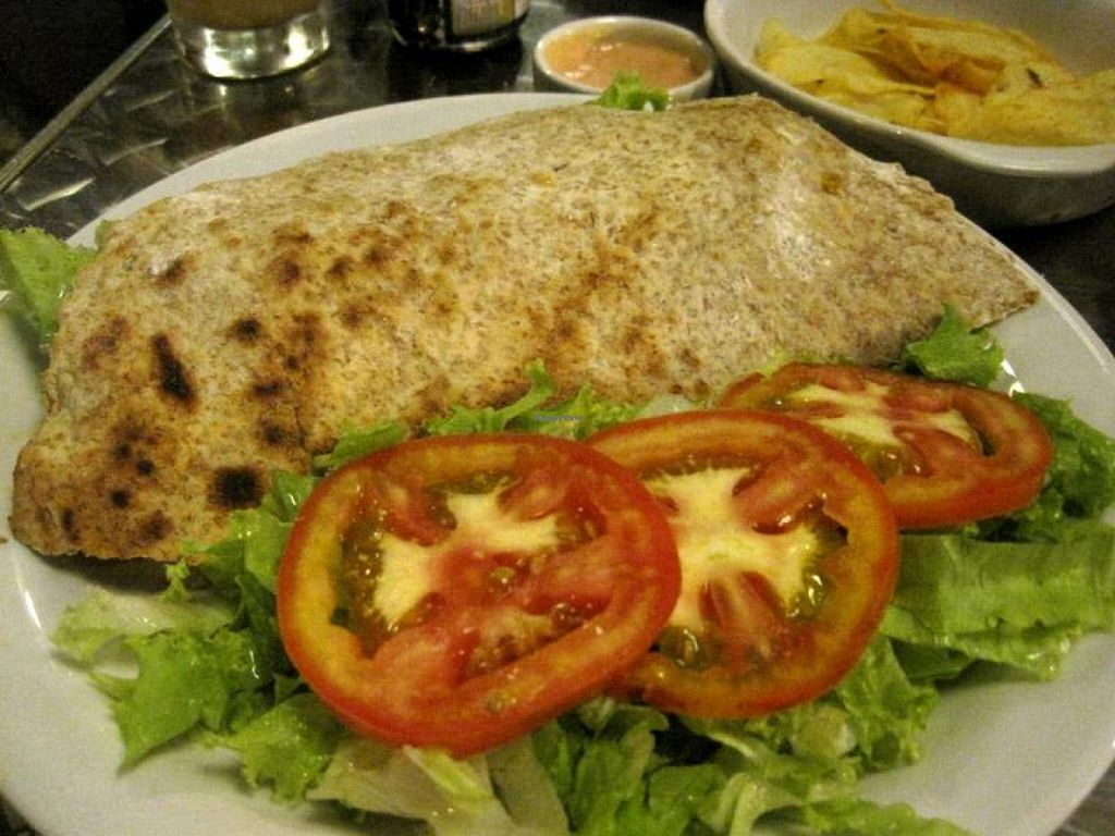"""Photo of Vegetariano Social Clube  by <a href=""""/members/profile/Babette"""">Babette</a> <br/>Gluten Sandwich. The gluten/seitan inside is amazing, I had never eaten a seitan like that. The sandwich was very good overall, although I'm not used to apples in savory sandwiches. I'd order it again though <br/> October 22, 2014  - <a href='/contact/abuse/image/5570/83687'>Report</a>"""