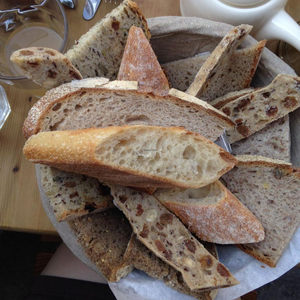 """Photo of Le Pain Quotidien - Bretagne  by <a href=""""/members/profile/daisymaysipes"""">daisymaysipes</a> <br/>vegan bread basket <br/> June 6, 2015  - <a href='/contact/abuse/image/55714/104950'>Report</a>"""