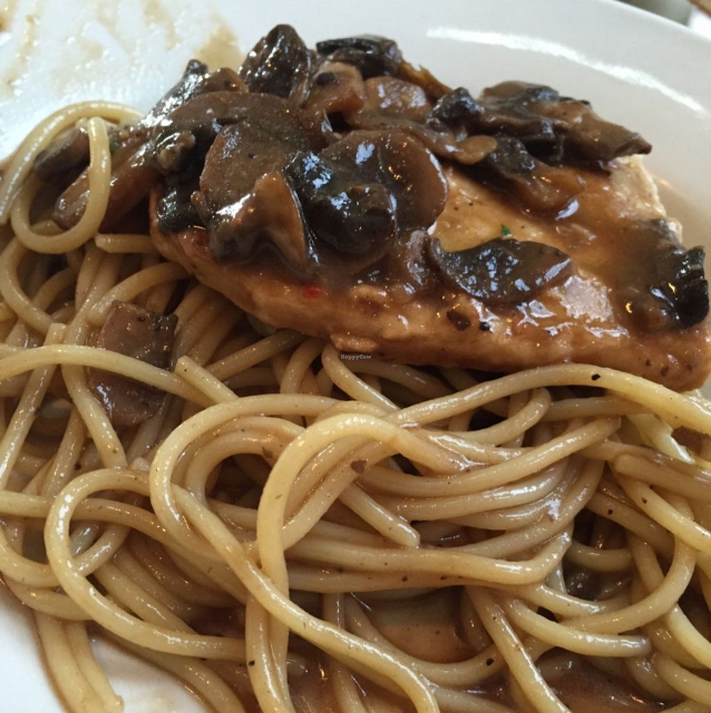 """Photo of Vito's Pizza and Ristorante  by <a href=""""/members/profile/JulianaVegBraunsroth"""">JulianaVegBraunsroth</a> <br/>Vegan chicken Marsala <br/> December 12, 2015  - <a href='/contact/abuse/image/55724/128097'>Report</a>"""