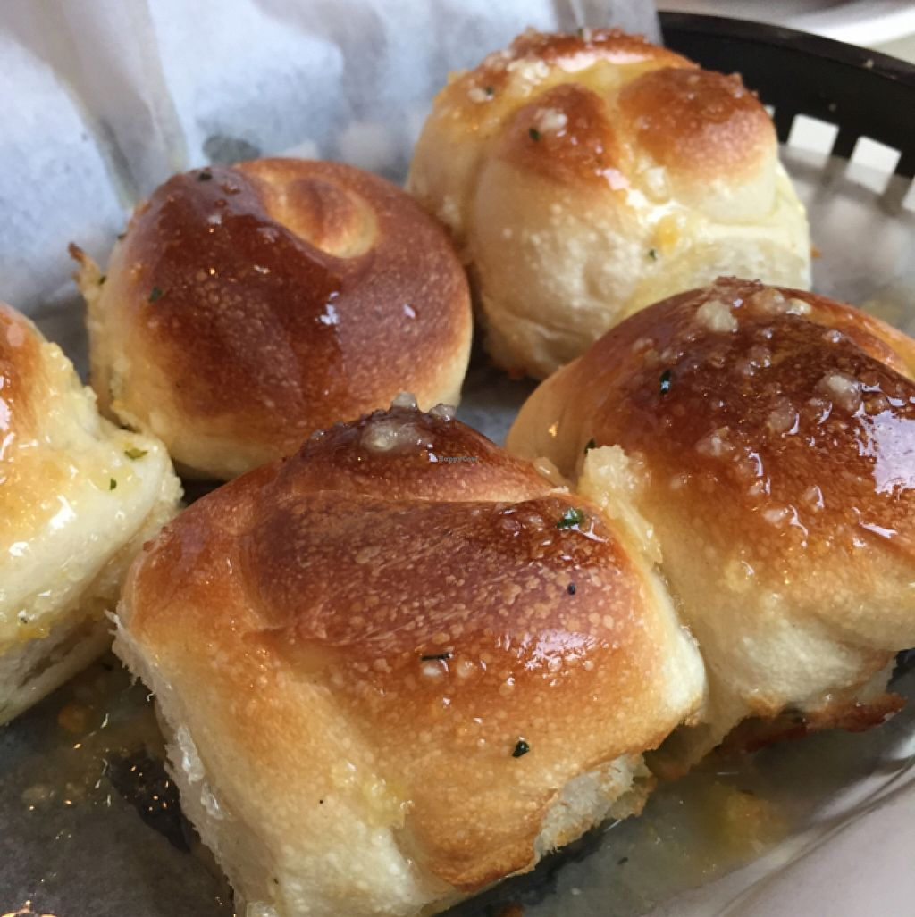 """Photo of Vito's Pizza and Ristorante  by <a href=""""/members/profile/JulianaVegBraunsroth"""">JulianaVegBraunsroth</a> <br/>Garlic knots (Vegan) <br/> December 12, 2015  - <a href='/contact/abuse/image/55724/128098'>Report</a>"""