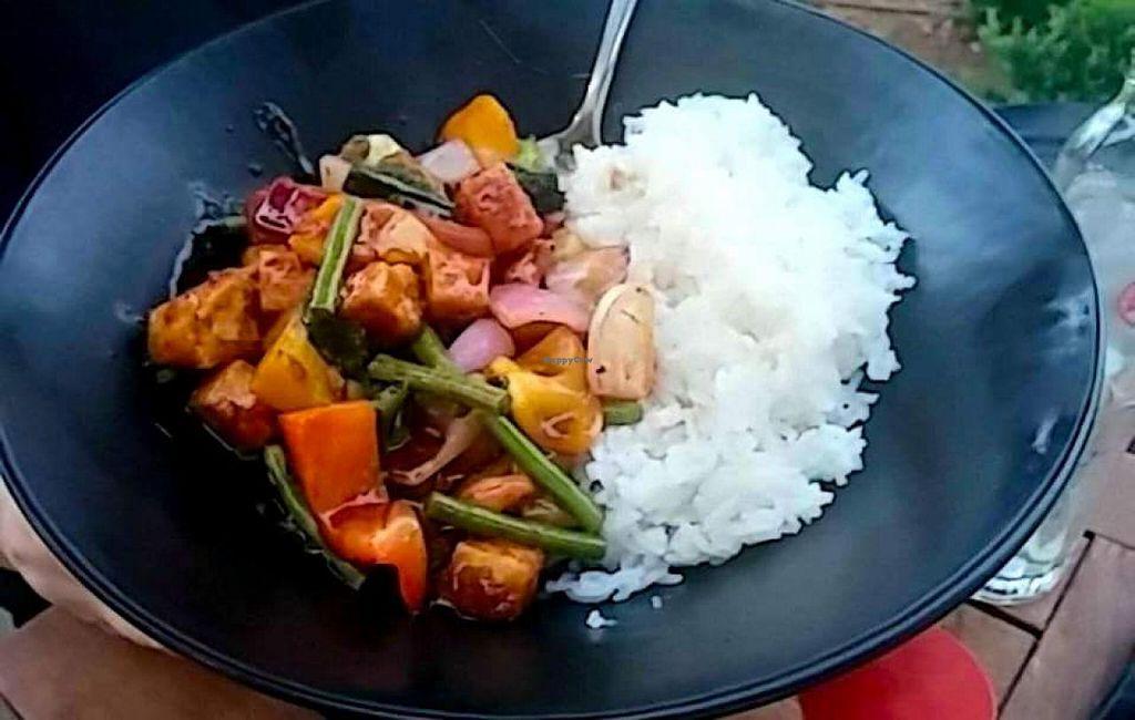 "Photo of Kampai Sarona  by <a href=""/members/profile/Brok%20O.%20Lee"">Brok O. Lee</a> <br/>Vegan 'Hanoi' with tofu <br/> July 3, 2015  - <a href='/contact/abuse/image/55736/108046'>Report</a>"