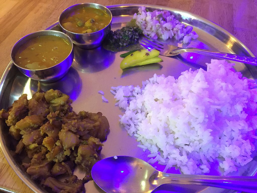 """Photo of Guptaji Ki Kitchen  by <a href=""""/members/profile/SusanRoberts"""">SusanRoberts</a> <br/>Thali set, all you can eat <br/> February 17, 2018  - <a href='/contact/abuse/image/55747/360305'>Report</a>"""