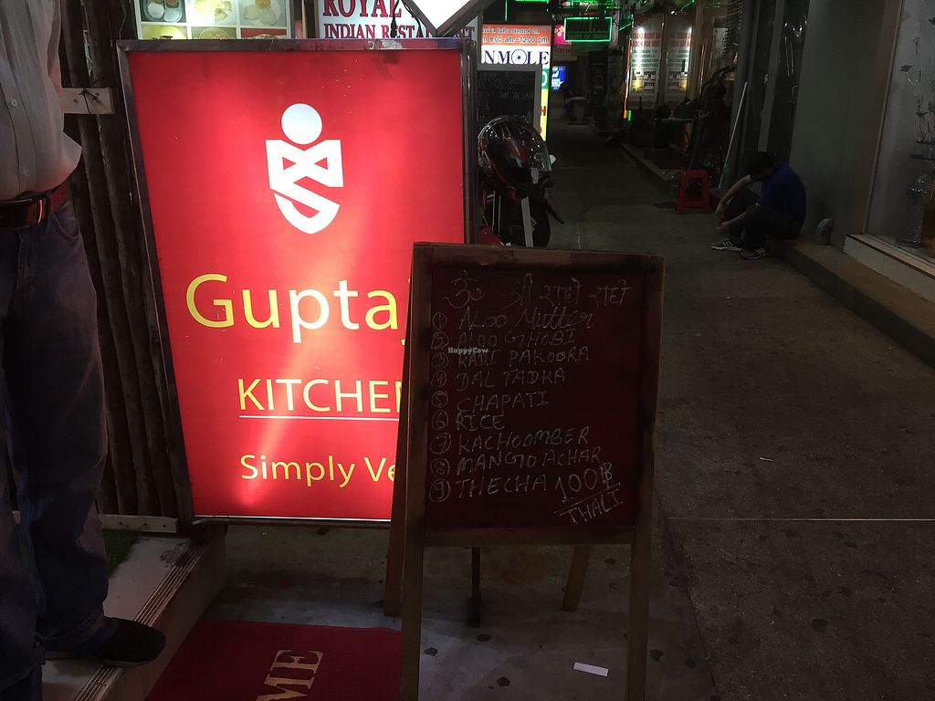 """Photo of Guptaji Ki Kitchen  by <a href=""""/members/profile/SusanRoberts"""">SusanRoberts</a> <br/>Sign outside <br/> February 17, 2018  - <a href='/contact/abuse/image/55747/360313'>Report</a>"""