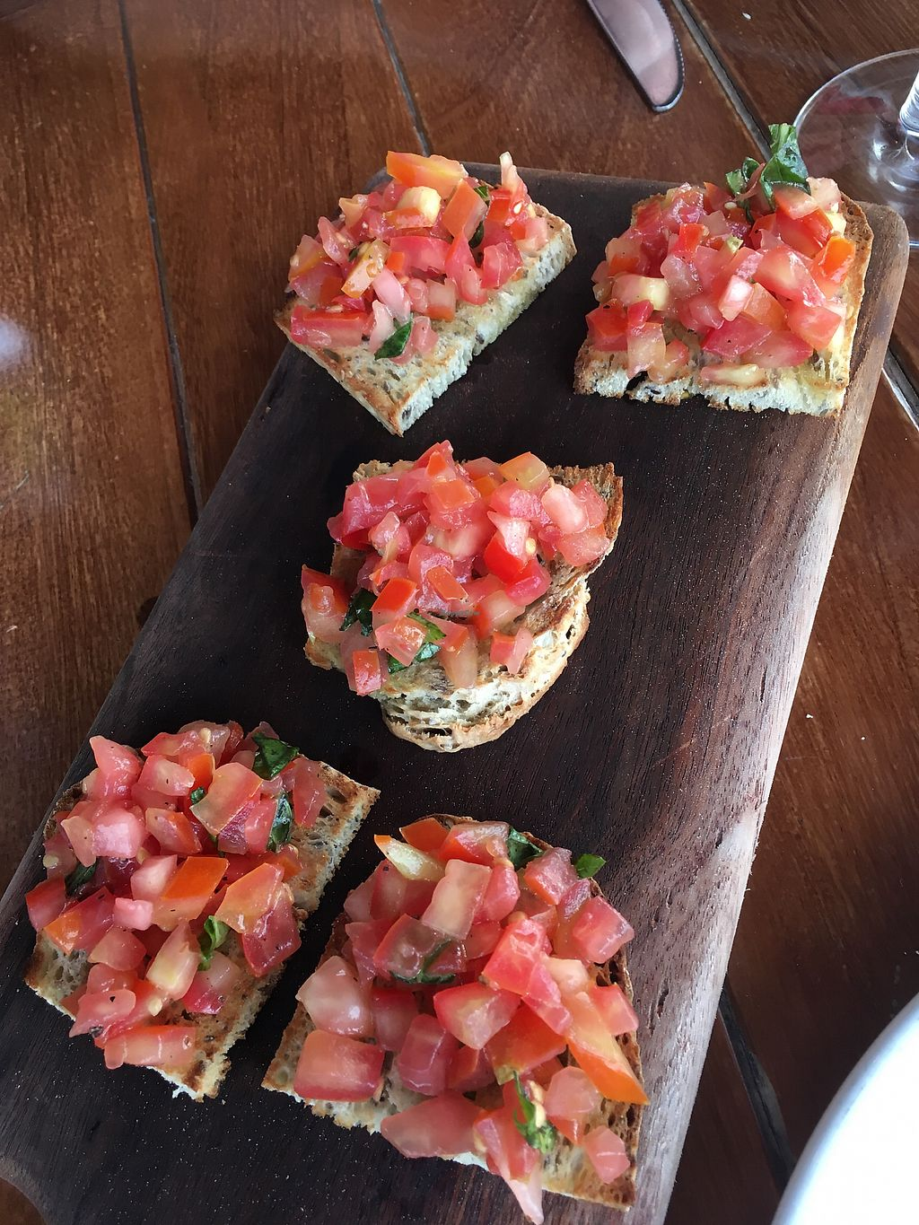 """Photo of La Traviata  by <a href=""""/members/profile/JessicaAllens"""">JessicaAllens</a> <br/>Bruschetta without cheese <br/> March 10, 2018  - <a href='/contact/abuse/image/55748/368990'>Report</a>"""