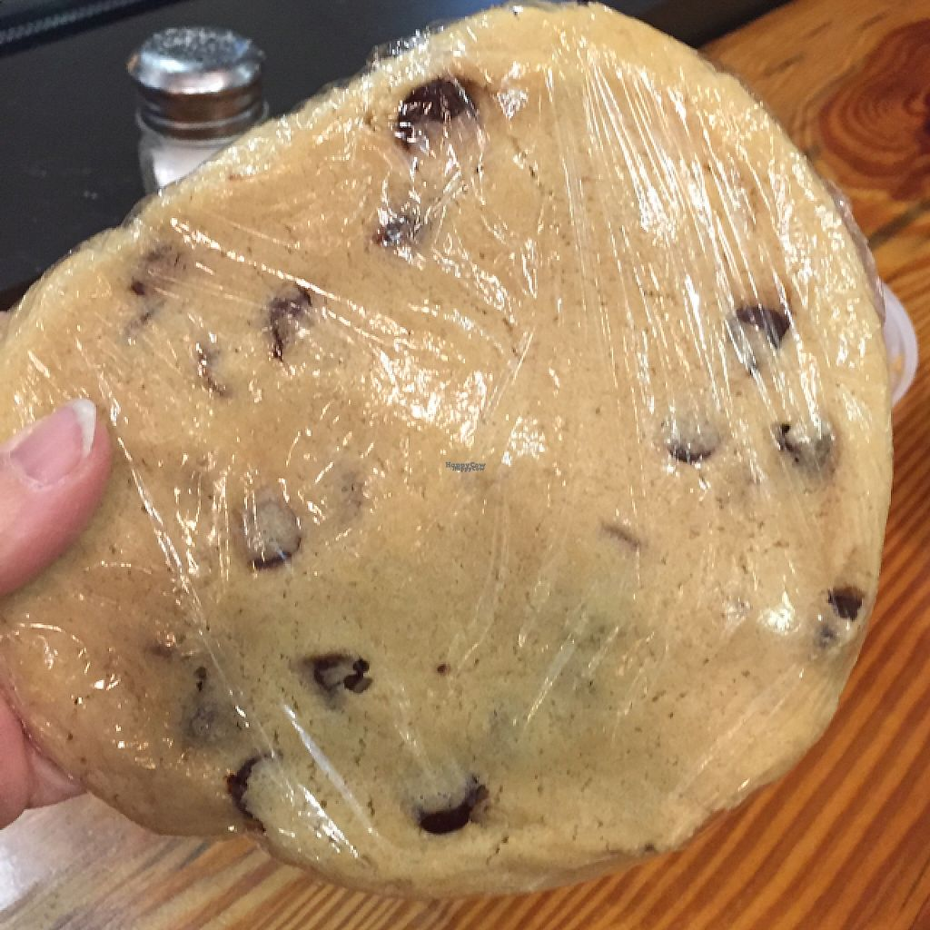 """Photo of NuVegan Cafe  by <a href=""""/members/profile/GMUGrad2002"""">GMUGrad2002</a> <br/>Huge cookie <br/> February 19, 2017  - <a href='/contact/abuse/image/55774/228285'>Report</a>"""