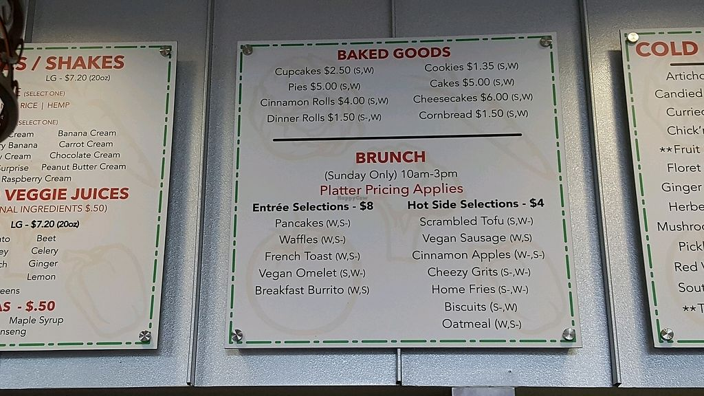 """Photo of NuVegan Cafe  by <a href=""""/members/profile/debbiesmall"""">debbiesmall</a> <br/>menu brunch <br/> July 2, 2017  - <a href='/contact/abuse/image/55774/276019'>Report</a>"""