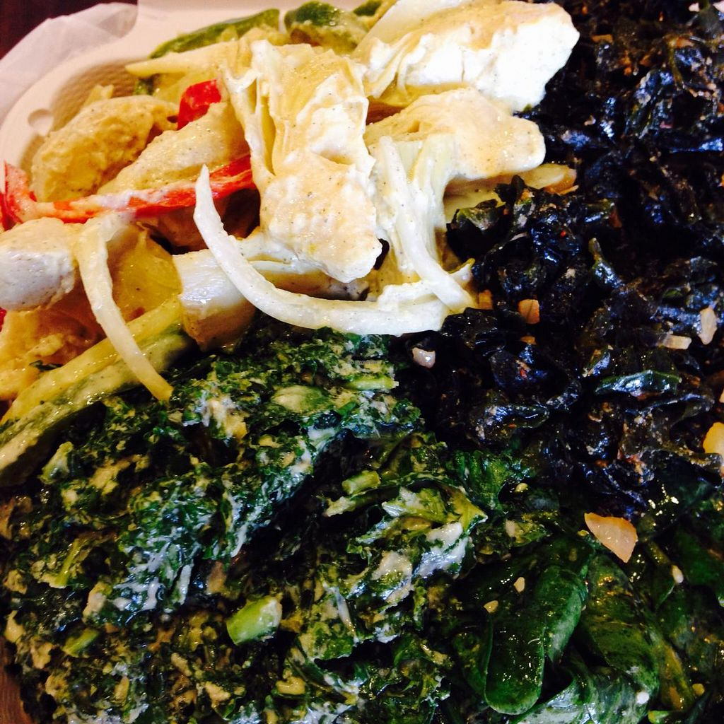 """Photo of NuVegan Cafe  by <a href=""""/members/profile/cookiem"""">cookiem</a> <br/>4-sides from the cold bar <br/> April 8, 2015  - <a href='/contact/abuse/image/55774/98339'>Report</a>"""