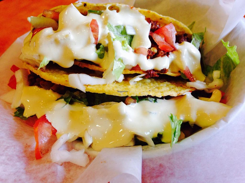 """Photo of NuVegan Cafe  by <a href=""""/members/profile/cookiem"""">cookiem</a> <br/>Tacos!!! <br/> April 8, 2015  - <a href='/contact/abuse/image/55774/98340'>Report</a>"""