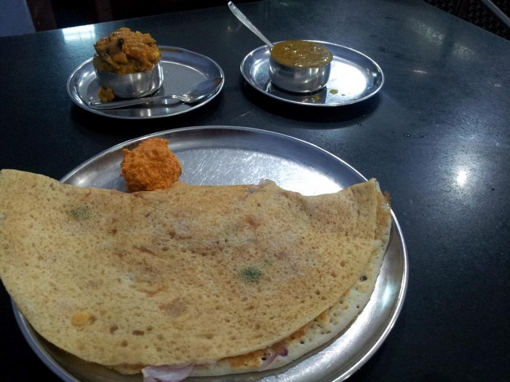 """Photo of Indo Ceylon Cafe - Dosa King  by <a href=""""/members/profile/veganskinhead"""">veganskinhead</a> <br/>Masala Dosai <br/> February 23, 2015  - <a href='/contact/abuse/image/55788/93970'>Report</a>"""