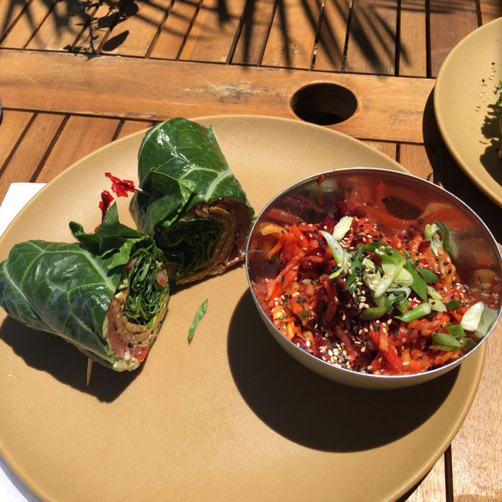 Photo of Fruits and Roots  by VeganBoo <br/>BLT in collard wrap <br/> May 7, 2016  - <a href='/contact/abuse/image/55794/147867'>Report</a>