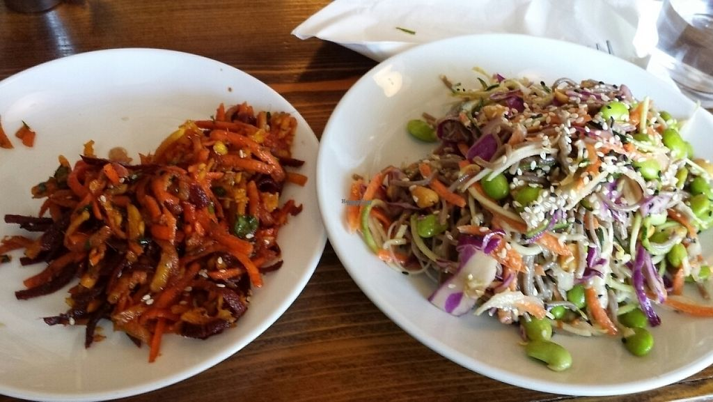 """Photo of Fruits and Roots  by <a href=""""/members/profile/drubot"""">drubot</a> <br/>Root salad and Asian noodle salad  <br/> February 9, 2017  - <a href='/contact/abuse/image/55794/224627'>Report</a>"""