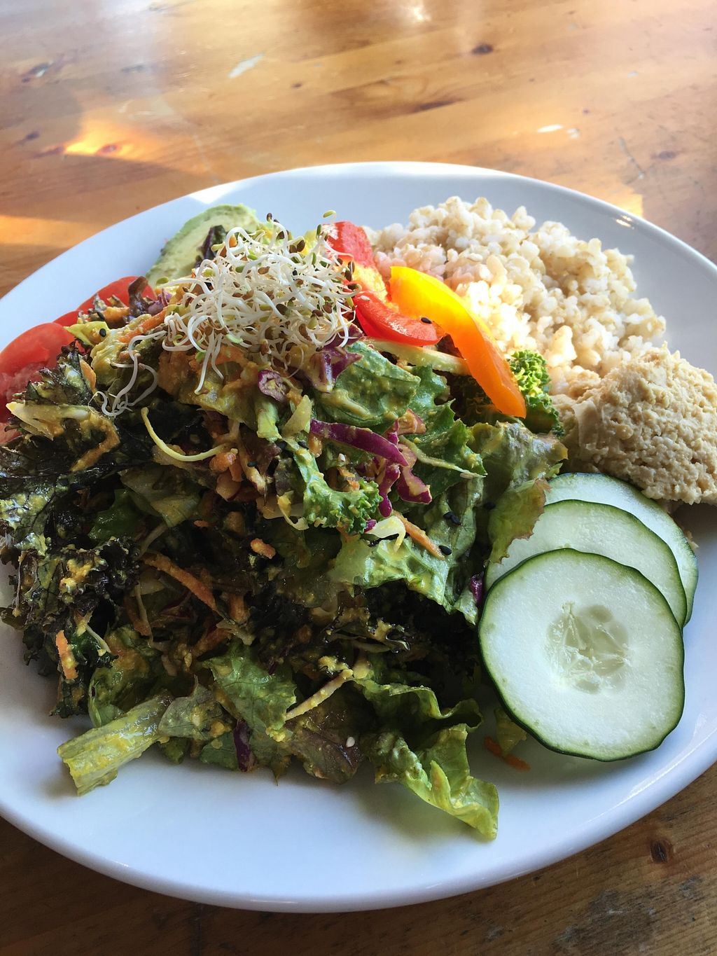 """Photo of Eternal Abundance Organic Market & Cafe  by <a href=""""/members/profile/vegan%20frog"""">vegan frog</a> <br/>Super salad <br/> April 9, 2016  - <a href='/contact/abuse/image/5579/143675'>Report</a>"""