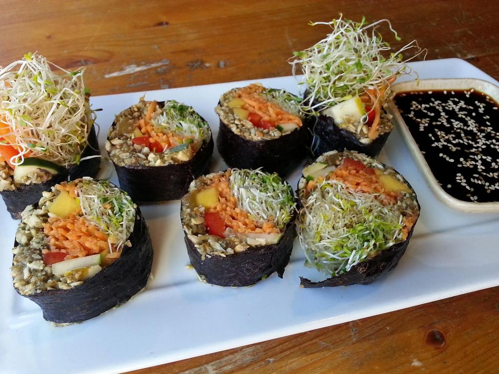 """Photo of Eternal Abundance Organic Market & Cafe  by <a href=""""/members/profile/eric"""">eric</a> <br/>mango sushi <br/> July 28, 2014  - <a href='/contact/abuse/image/5579/75300'>Report</a>"""