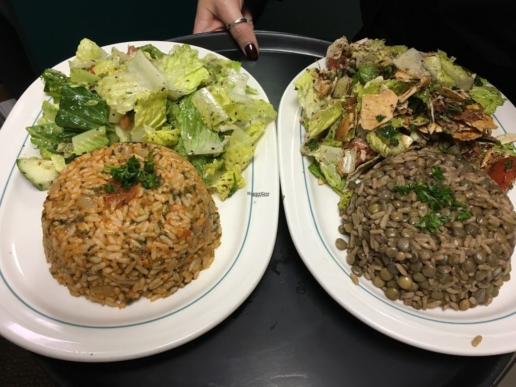 "Photo of Osta's Lebanese Cuisine  by <a href=""/members/profile/ostaslebanese"">ostaslebanese</a> <br/>Vegetarian Rice (left) and Moudardara (right) both Vegan and Vegetarian Friendly. Delicious! <br/> September 14, 2016  - <a href='/contact/abuse/image/55814/175721'>Report</a>"
