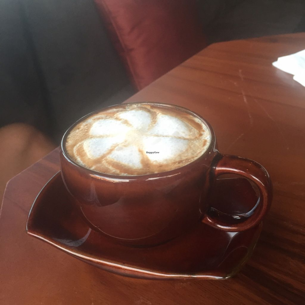 """Photo of Kismet Cafe and Boutique  by <a href=""""/members/profile/petitevegan"""">petitevegan</a> <br/>coconut cappuccino  <br/> December 28, 2015  - <a href='/contact/abuse/image/55831/130104'>Report</a>"""