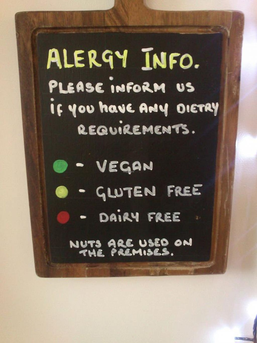 """Photo of The HiVe Cafe  by <a href=""""/members/profile/fizz"""">fizz</a> <br/>The allergen labelling system for the menu at The HiVe Cafe <br/> September 2, 2015  - <a href='/contact/abuse/image/55854/116167'>Report</a>"""