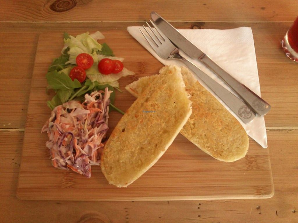 """Photo of The HiVe Cafe  by <a href=""""/members/profile/fizz"""">fizz</a> <br/>Garlic bread at The HiVe Cafe <br/> September 2, 2015  - <a href='/contact/abuse/image/55854/116169'>Report</a>"""