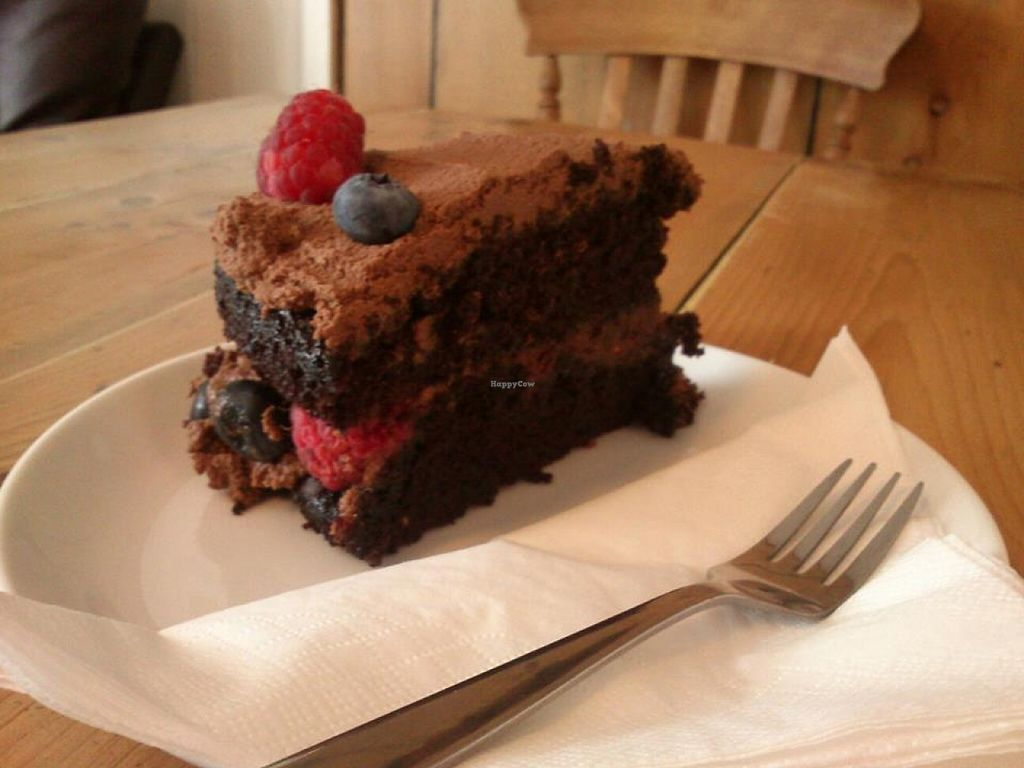 """Photo of The HiVe Cafe  by <a href=""""/members/profile/fizz"""">fizz</a> <br/>Mixed berry chocolate cake (vegan) at The HiVe Cafe <br/> September 2, 2015  - <a href='/contact/abuse/image/55854/116170'>Report</a>"""
