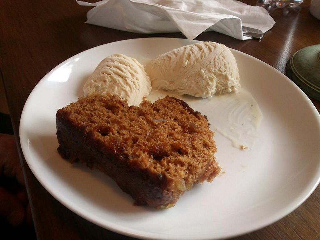 """Photo of The HiVe Cafe  by <a href=""""/members/profile/fizz"""">fizz</a> <br/>Warm ginger and apple cake with vanilla ice cream (vegan) at The HiVe Cafe <br/> September 2, 2015  - <a href='/contact/abuse/image/55854/116171'>Report</a>"""