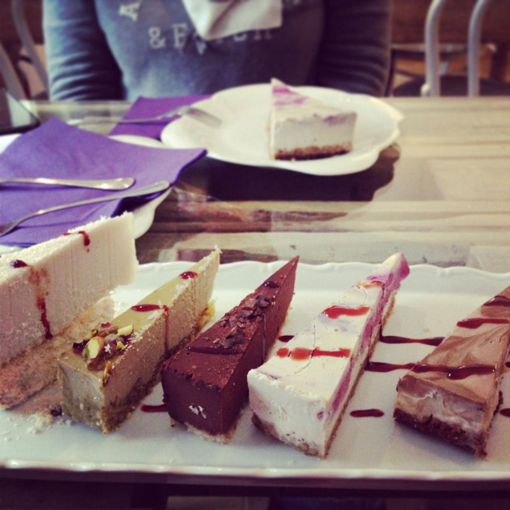 """Photo of Sweet Secret of Raw  by <a href=""""/members/profile/NikuskaRawPassion"""">NikuskaRawPassion</a> <br/>Tasting plate - from left Rawfaelo, Pistachio, Chocolate, Berry and Chocolate-Banana:) <br/> March 9, 2015  - <a href='/contact/abuse/image/55868/95264'>Report</a>"""