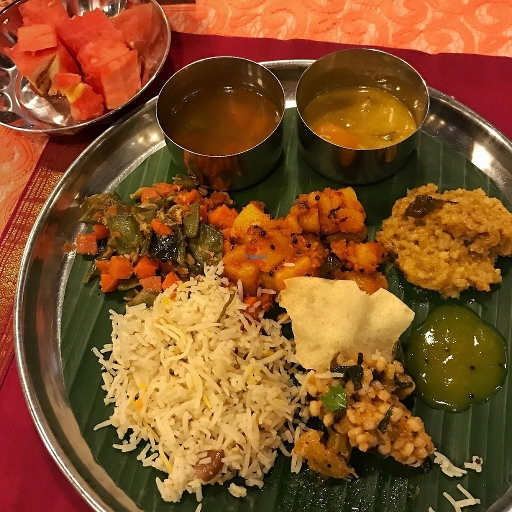 """Photo of Annalakshmi - Central Square  by <a href=""""/members/profile/kkylaye"""">kkylaye</a> <br/>all vegan <br/> March 26, 2017  - <a href='/contact/abuse/image/55869/241064'>Report</a>"""