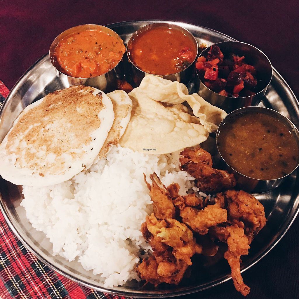 """Photo of Annalakshmi - Central Square  by <a href=""""/members/profile/CherylQuincy"""">CherylQuincy</a> <br/>Selection of food  <br/> January 23, 2018  - <a href='/contact/abuse/image/55869/350018'>Report</a>"""